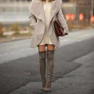 UNISA Taupe Over-The-Knee Boots